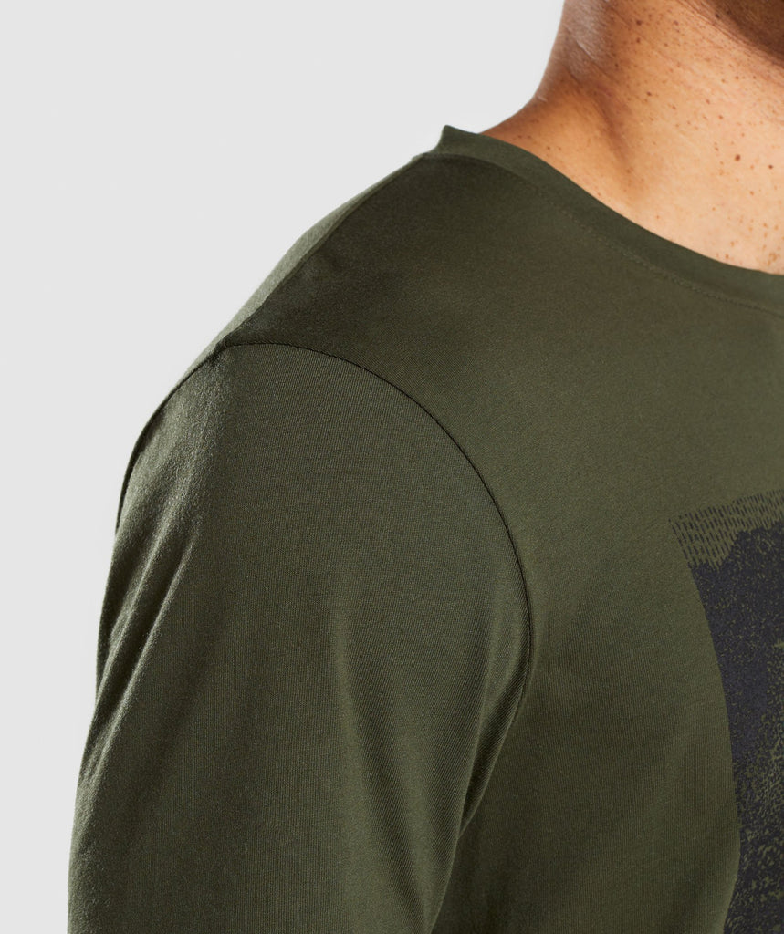 Gymshark Ultra Jacquard T-Shirt - Woodland Green 6