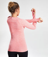 Gymshark Vital Seamless Long Sleeve Top - Peach Coral 7