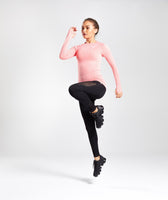 Gymshark Vital Seamless Long Sleeve Top - Peach Coral 10
