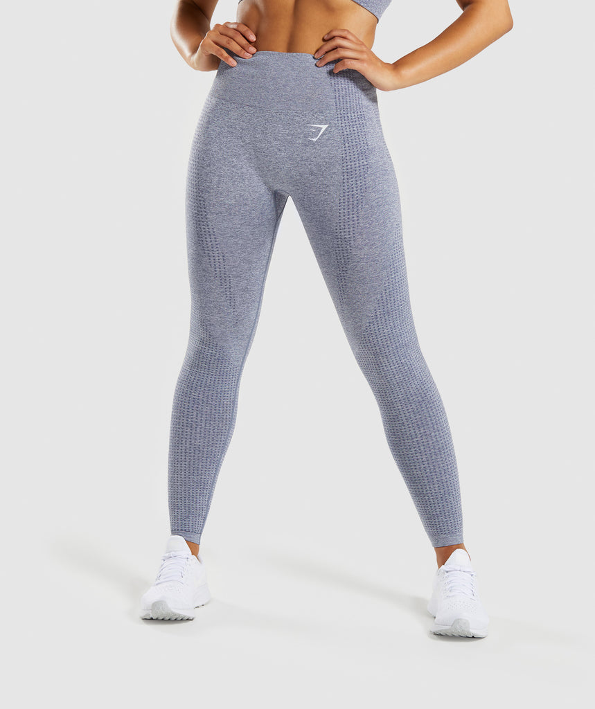 63d6f855ffc Gymshark Vital Seamless Leggings - Steel Blue Marl 1