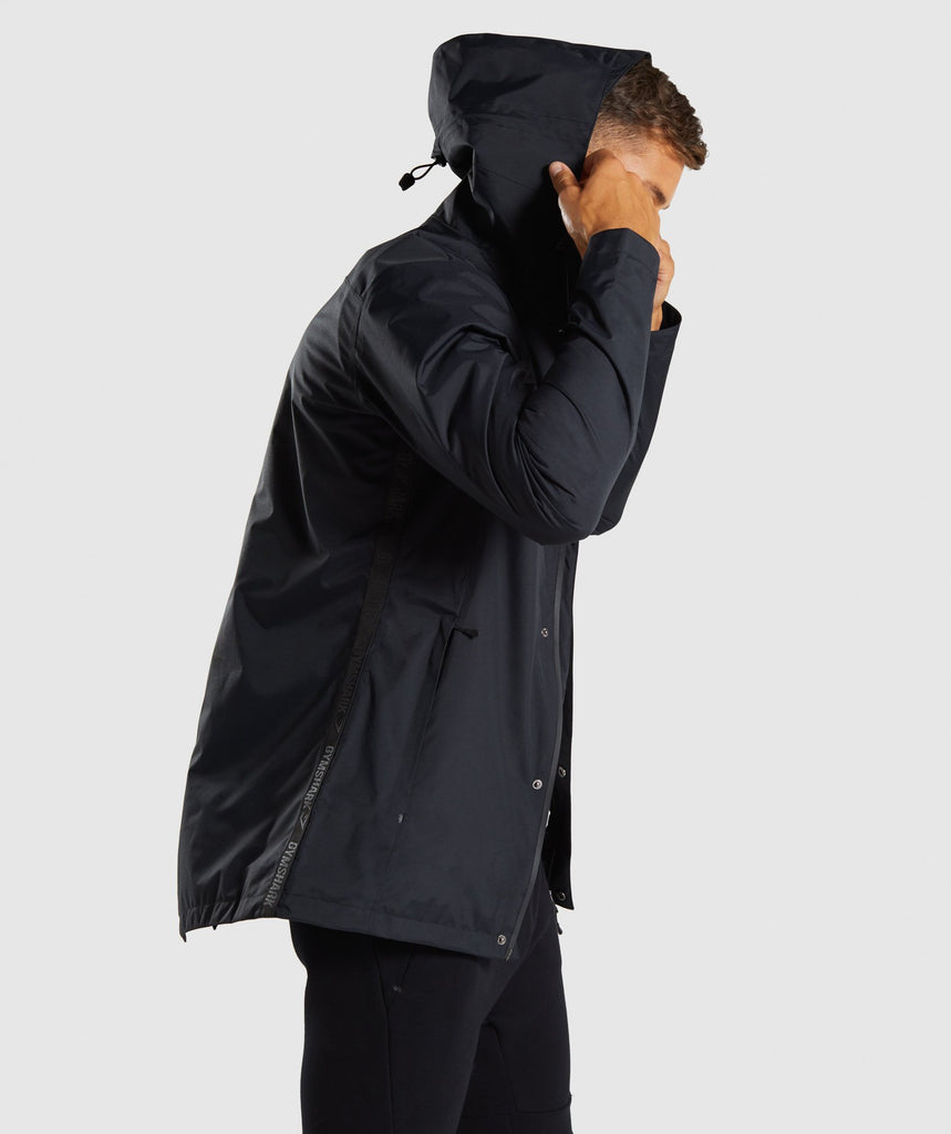 Gymshark Vortex Waterproof Jacket - Black 2