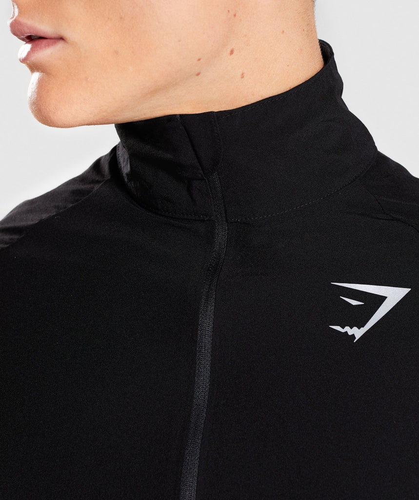 Gymshark Gravity Track Top - Black/Dive Blue 5