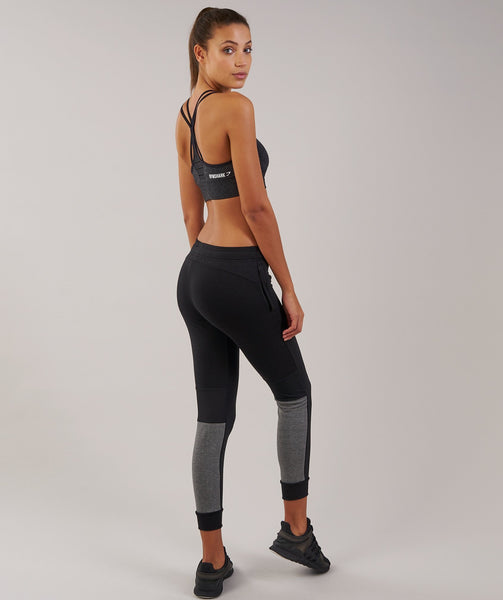 Gymshark Impulse Jogger - Black/Charcoal Marl 1