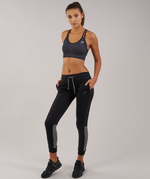 Gymshark Impulse Jogger - Black/Charcoal Marl 3