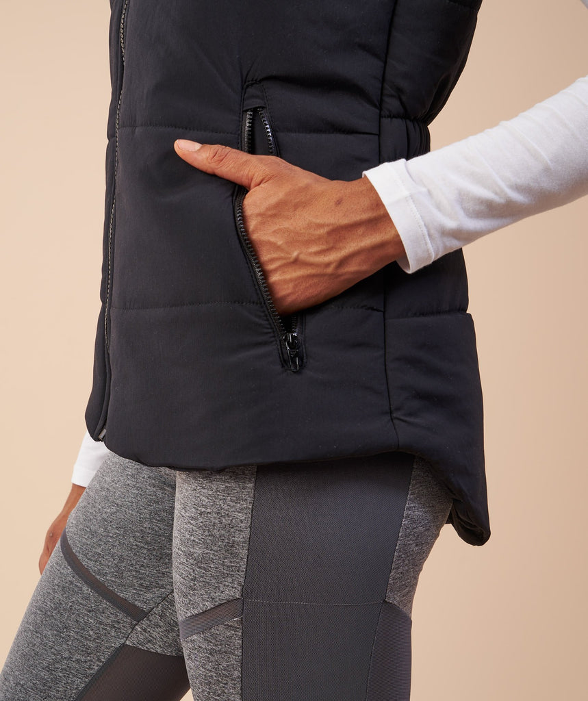 Gymshark Mellow Fitted Puffer Gilet - Black 6
