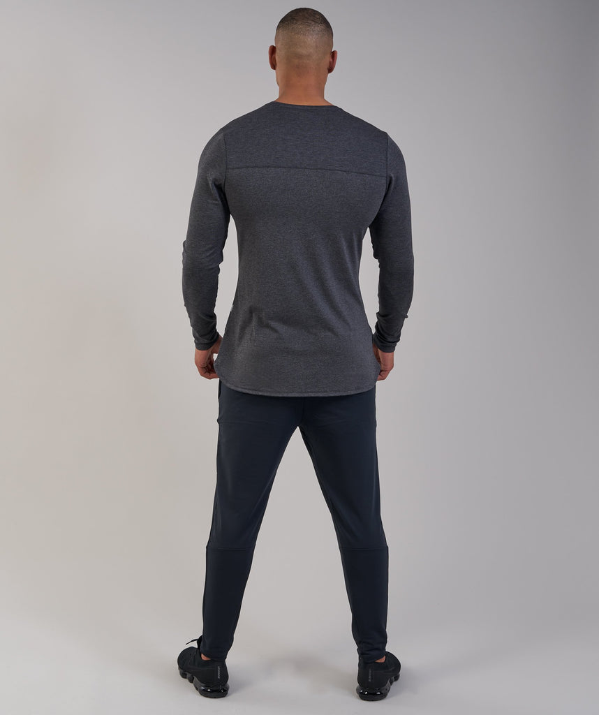 Gymshark Breathe Long Sleeve T-Shirt - Black Marl 5
