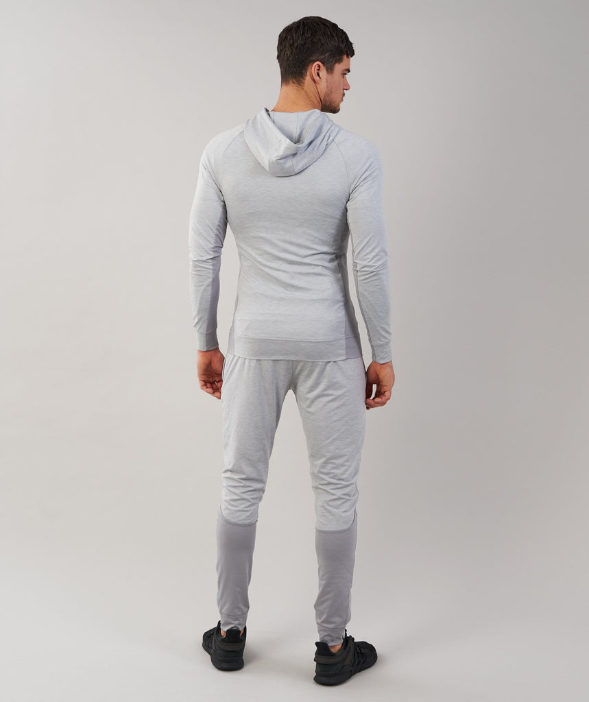 Gymshark Fallout Zip Hoodie - Light Grey Marl 2