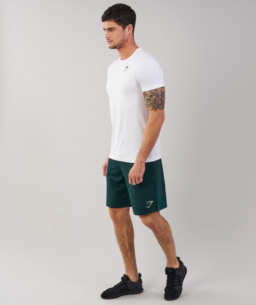 Gymshark Fallout Shorts - Forest Green Marl 2