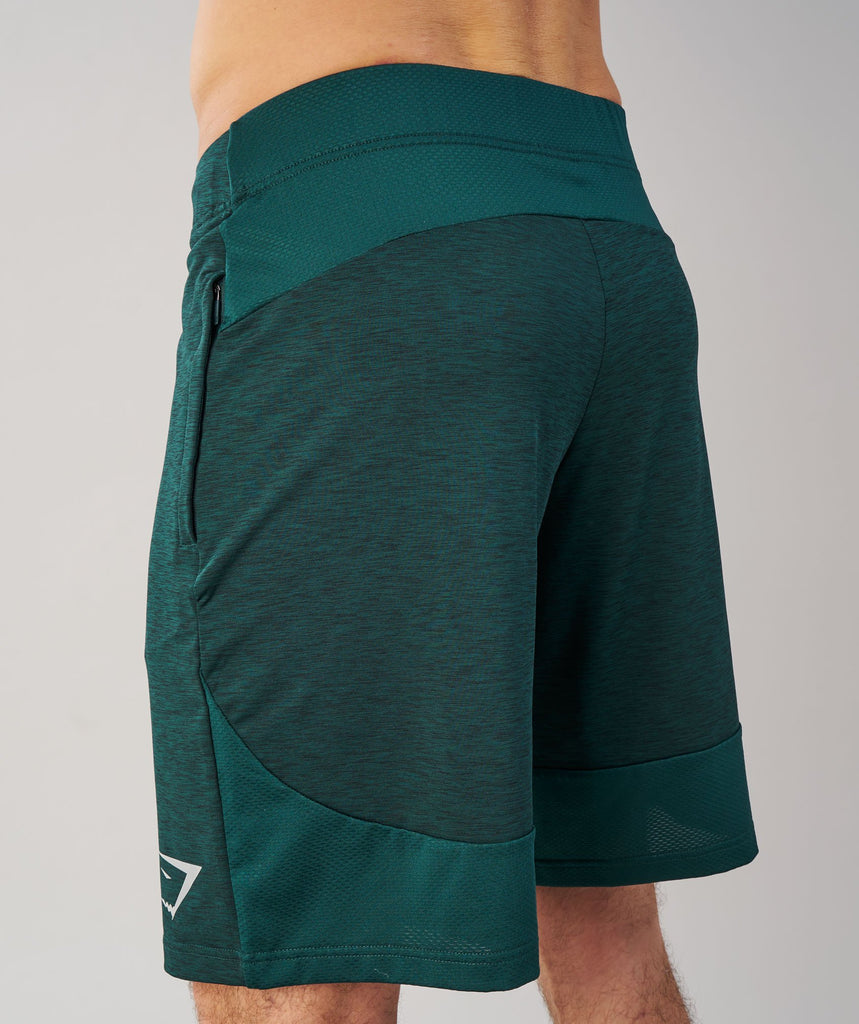 Gymshark Fallout Shorts - Forest Green Marl 5