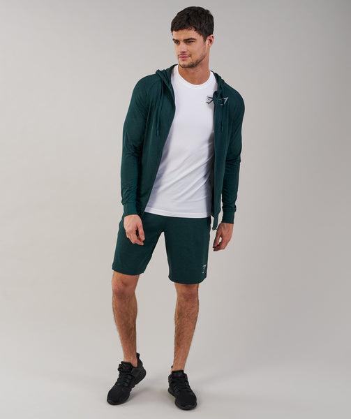 Gymshark Fallout Shorts - Forest Green Marl 3