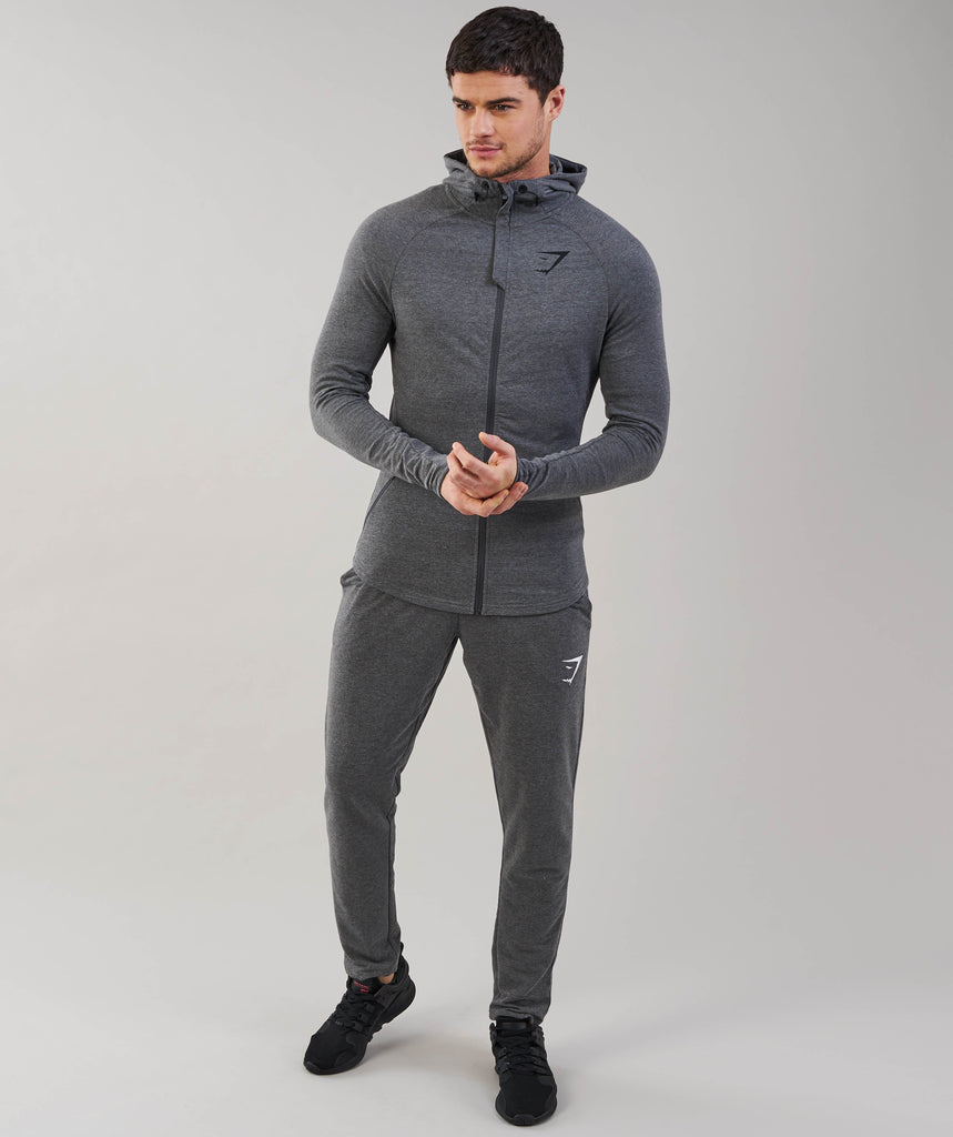 Gymshark Fit Hooded Top - Charcoal Marl 1