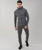Gymshark Fit Hooded Top - Charcoal Marl 9