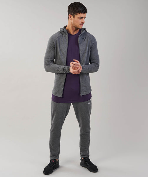 Gymshark Fit Hooded Top - Charcoal Marl 3