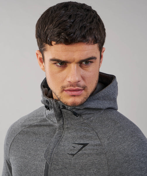 Gymshark Fit Hooded Top - Charcoal Marl 4
