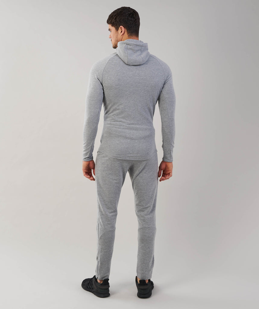 Gymshark Fit Hooded Top - Light Grey Marl 2