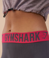 Gymshark Fit Leggings - Charcoal/Cranberry 12