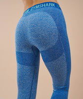 Gymshark Flex Leggings - Blueberry Marl/Marine Blue 12