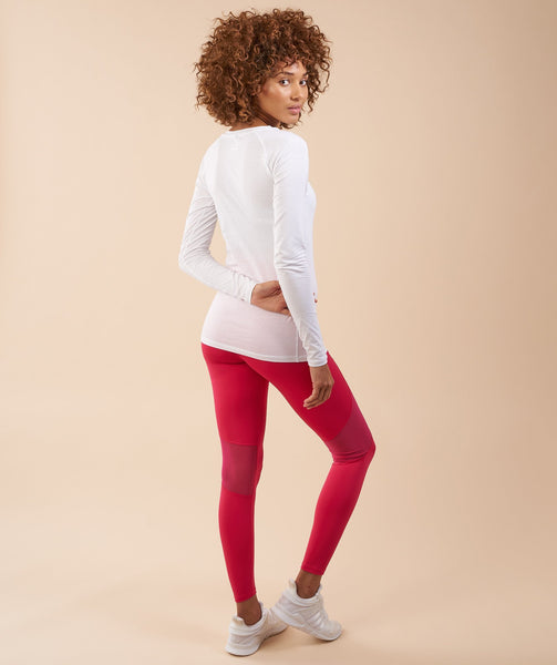 Gymshark Fusion Leggings - Cranberry 1