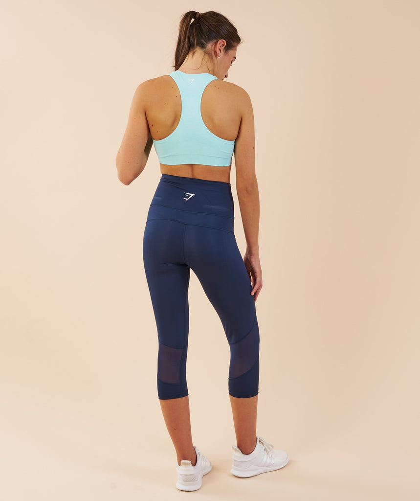 Gymshark Fusion Cropped Leggings - Sapphire Blue 2