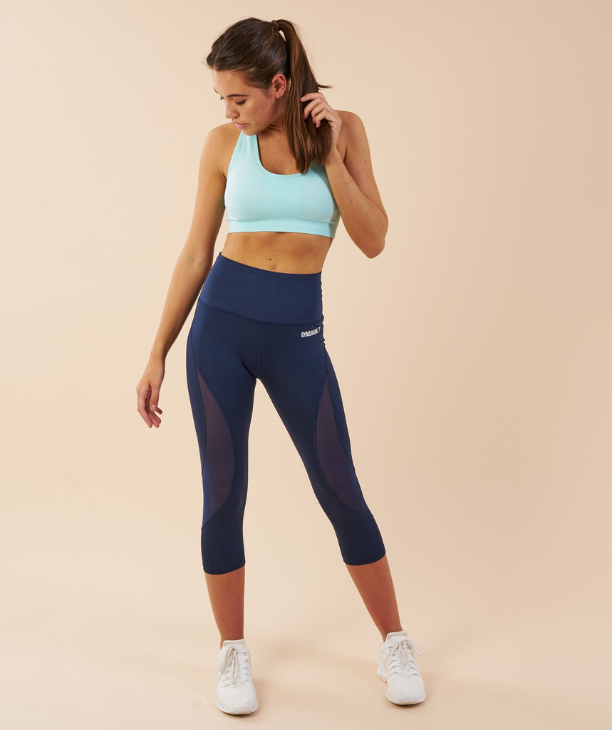 Gymshark Fusion Cropped Leggings - Sapphire Blue 1