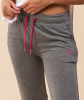 Gymshark Impulse Jogger - Charcoal Marl/Cranberry 12