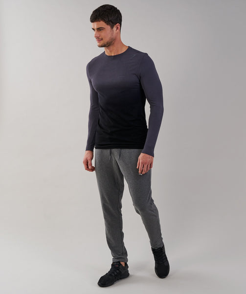 Gymshark Ombre Long Sleeve T-Shirt - Charcoal/Black 3