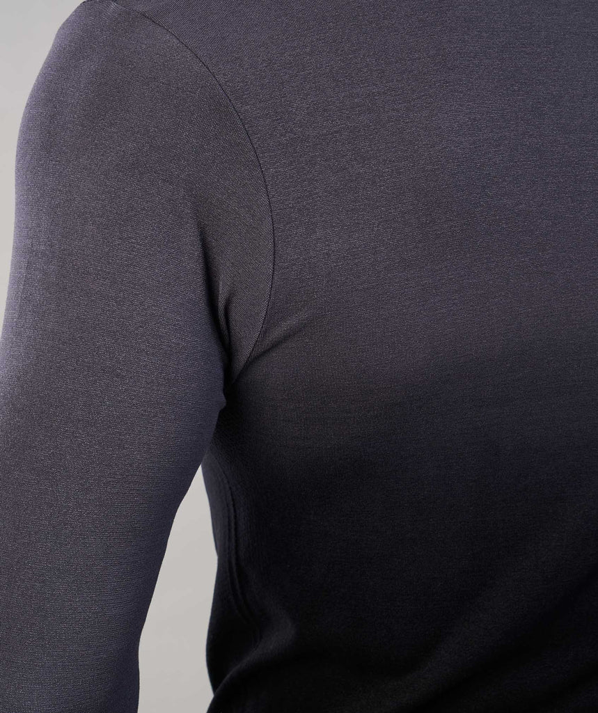Gymshark Ombre Long Sleeve T-Shirt - Charcoal/Black 6