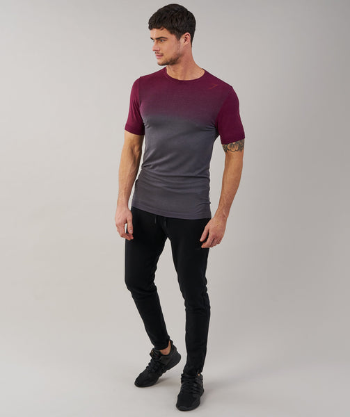 Gymshark Ombre T-Shirt - Port/Charcoal 3