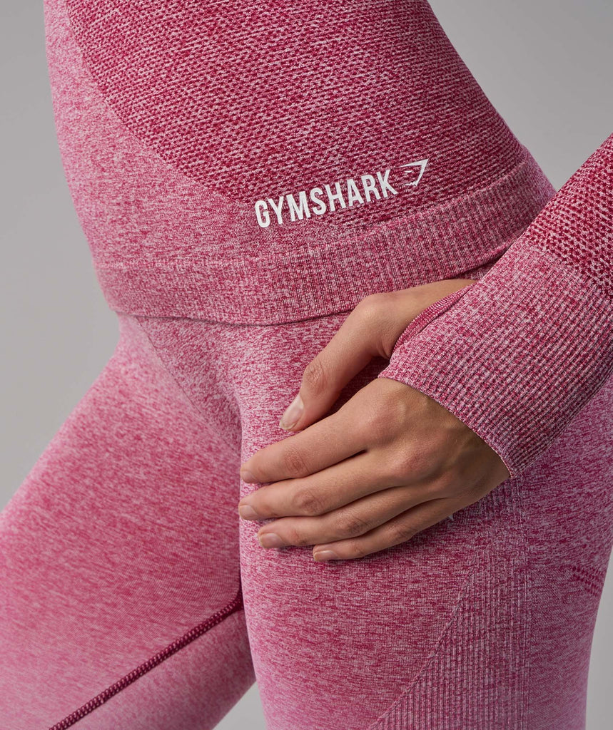 Gymshark Ombre Seamless Long Sleeve Top - Chalk Pink/Beet 5