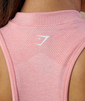 Gymshark Ombre Seamless Vest - Peach Pink/Charcoal 12