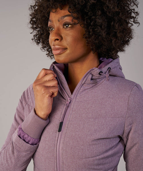Gymshark Mellow Fitted Puffer Jacket - Purple Wash Marl 3
