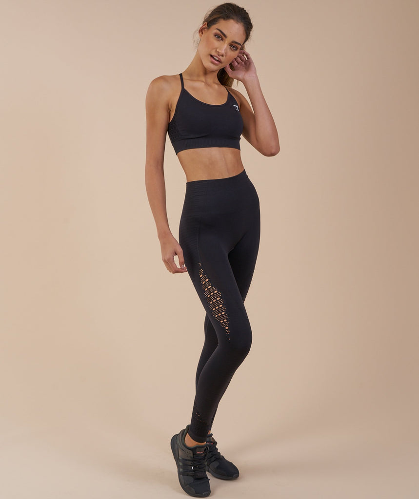 Gymshark Seamless Energy High Waisted Leggings - Black 1