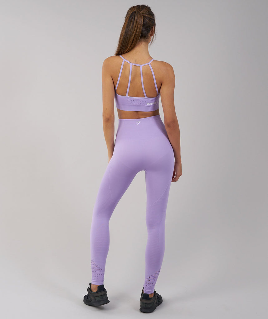 Gymshark Energy Seamless Sports Bra - Pastel Lilac 2