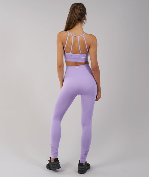 Gymshark Energy Seamless Sports Bra - Pastel Lilac 1