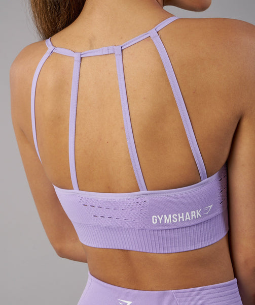 Gymshark Energy Seamless Sports Bra - Pastel Lilac 4