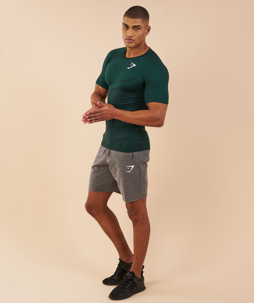 Gymshark Performance Seamless T-Shirt - Forest Green Marl 2