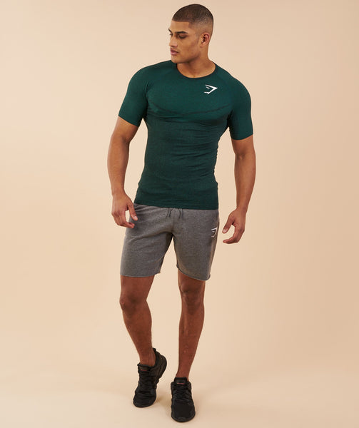 Gymshark Performance Seamless T-Shirt - Forest Green Marl 3