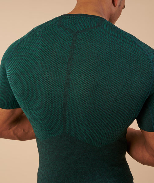 Gymshark Performance Seamless T-Shirt - Forest Green Marl 4