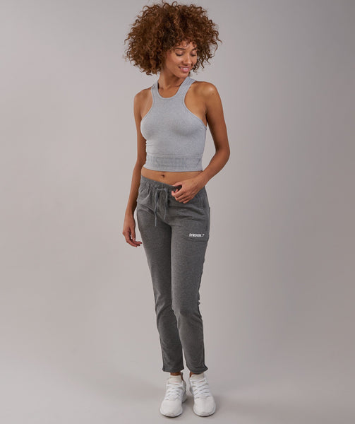 Gymshark Serene Sports Crop Top - Light Grey Marl 3