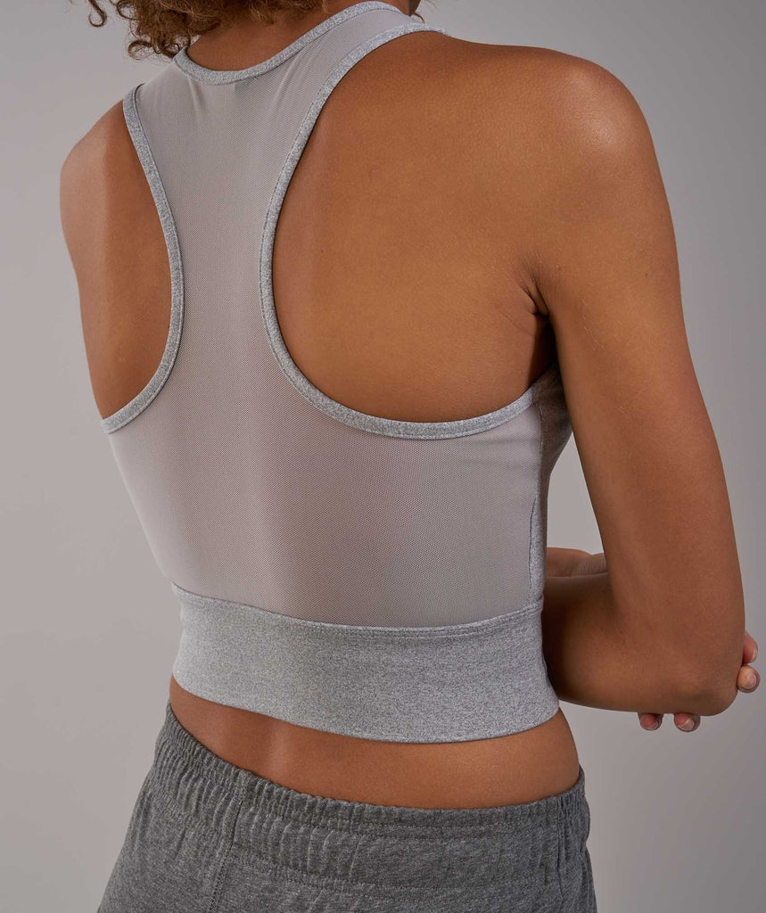Gymshark Serene Sports Crop Top - Light Grey Marl 5