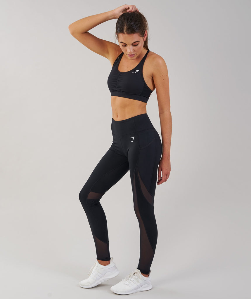 Gymshark Sleek Sculpture Leggings - Black 2