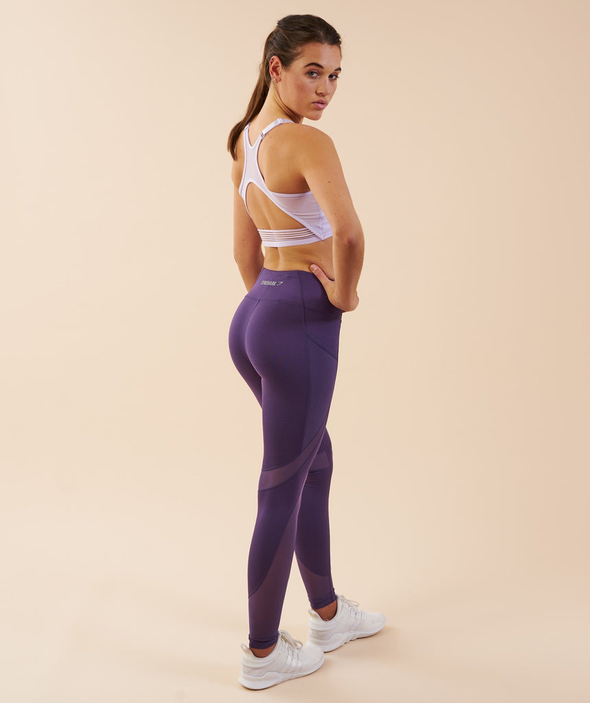 Gymshark Sleek Sculpture Leggings - Rich Purple 2