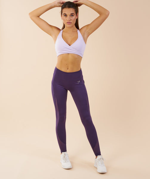 Gymshark Sleek Sculpture Leggings - Rich Purple 3