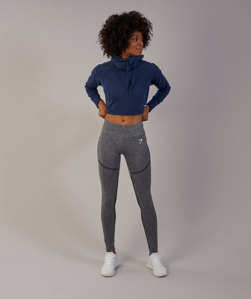 Gymshark Slouch Cropped Hoodie - Sapphire Blue 3