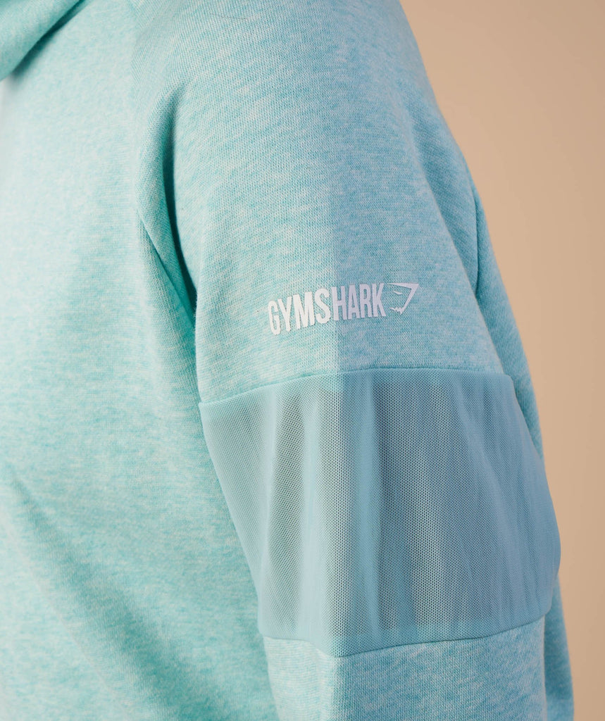 Gymshark Slouch Hoodie - Pale Turquoise Marl 6