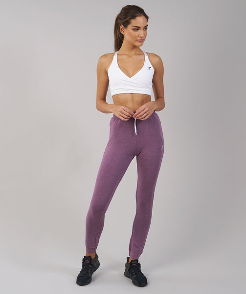 Gymshark Solace Bottoms - Purple Wash Marl 3