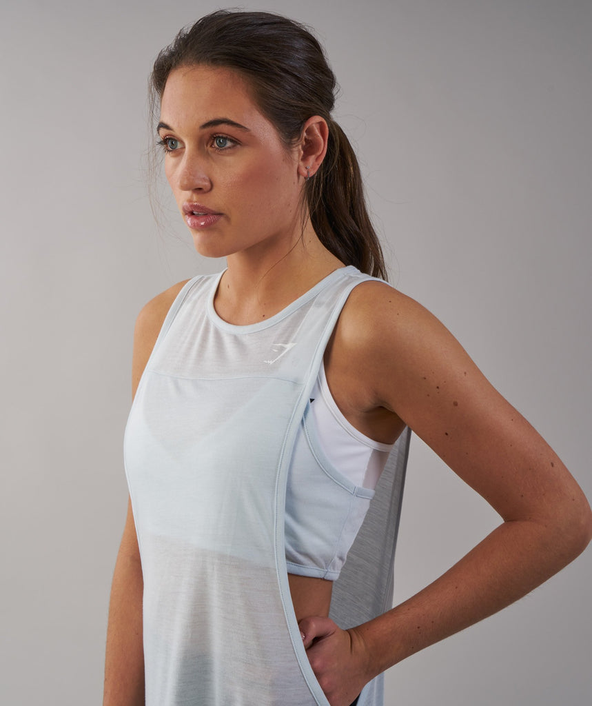Gymshark Two in One Tank - Ice Blue 2