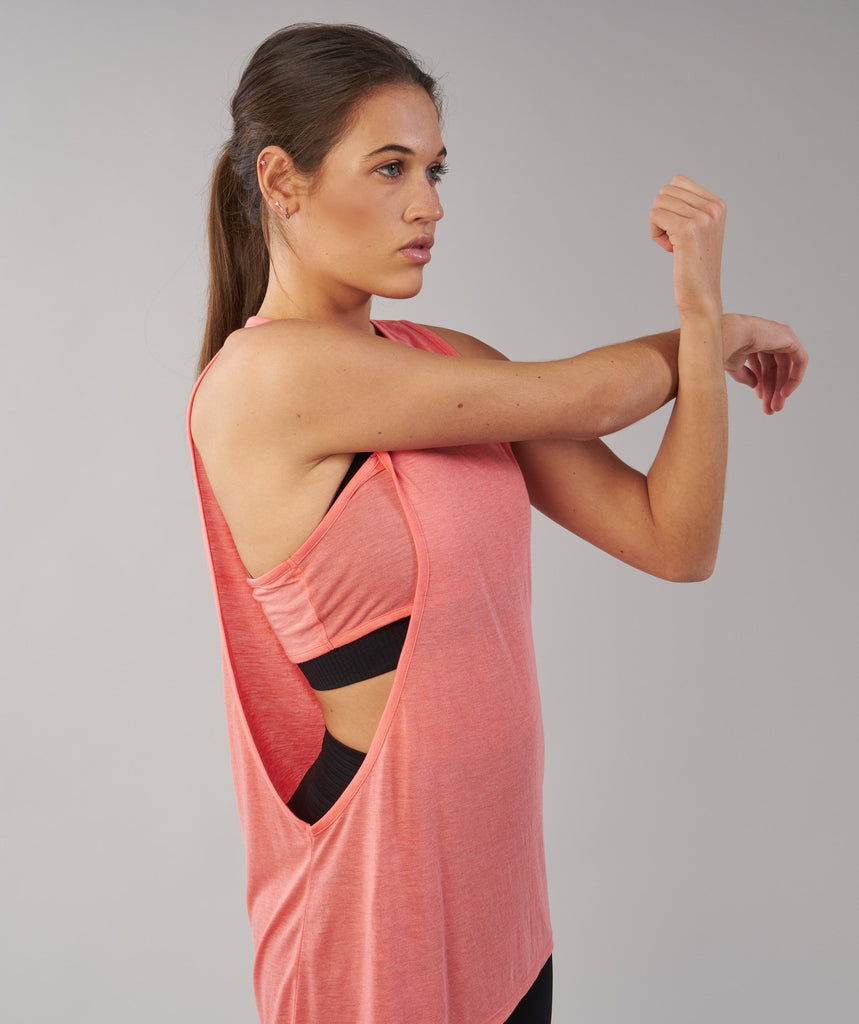 Gymshark Two in One Tank - Peach Coral 2