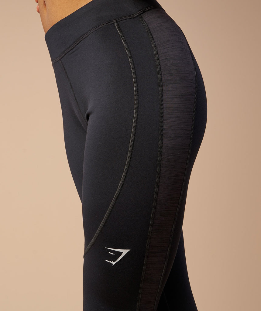 Gymshark Winter Running Leggings - Black 6