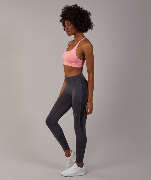 Gymshark Winter Running Leggings - Charcoal 2